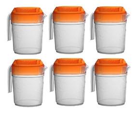 Jarra De Plástico Para Agua 2 Lts Caja/12 Pzs Incluye Envío