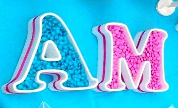 7 Letras + 1 Figuras Huecas 16 Cmcb/ 20cm Figuras Polyfan
