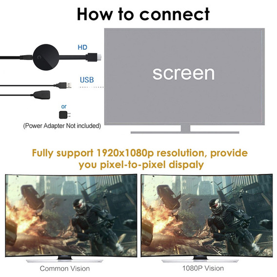 G5 Wireless Wifi Display Dongle Receiver 1080p Hd Tv Stick