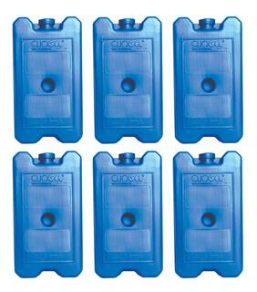 Gelo Gel Artificial Reutilizável 500 Ml 6 Unidades