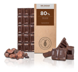 Tableta Chocolate Dr Cacao 80% Sin Azucar X70grs Envio