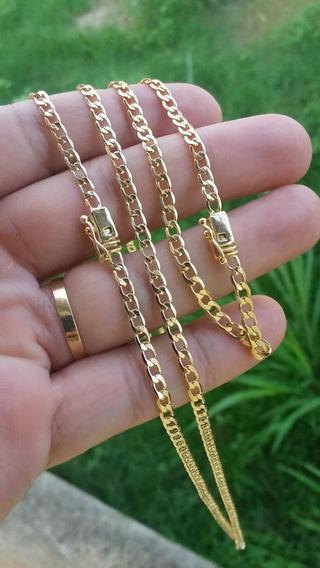 Corrente E Pulseira Banhados A Ouro Com Garantia De 1 Ano