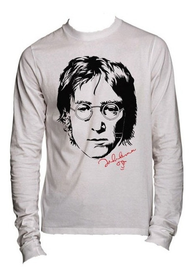 Playeras The Beatles John Lennon Manga Larg -15 Modelos Disp