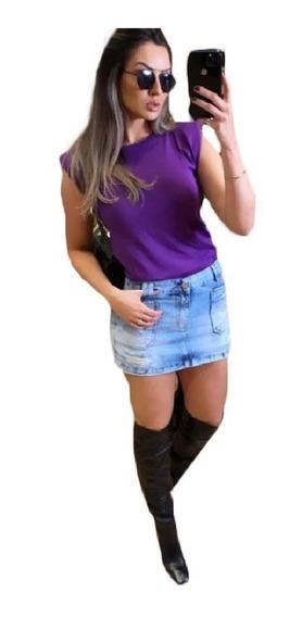 T-shirts Camiseta Feminina Blusinha Modal Ombreira Muscle