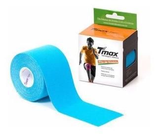 Bandagem Neuromuscular Elástica Adesiva - Tmax Azul Claro