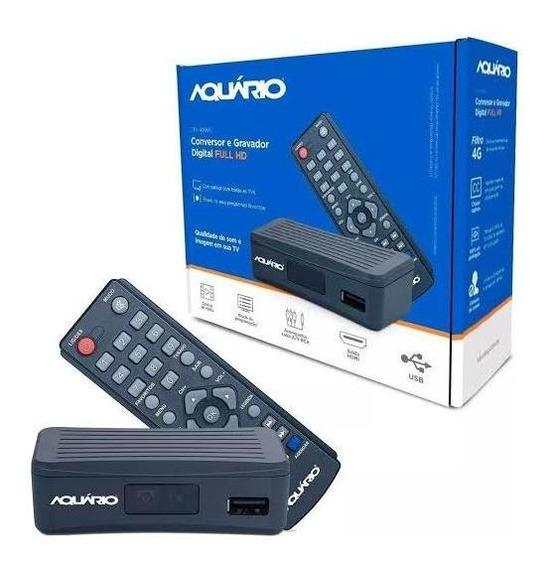 Conversor Digital E Gravador Dtv 4000 Full Hd Aquário