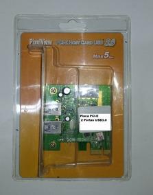 Placa Pci-e Pixelview Pv-via800-f C/ 2 Portas Usb 3.0
