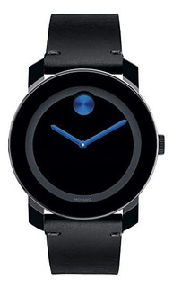 Reloj Movado Bold Tr90 Hombre Azul Cuero Cuarzo
