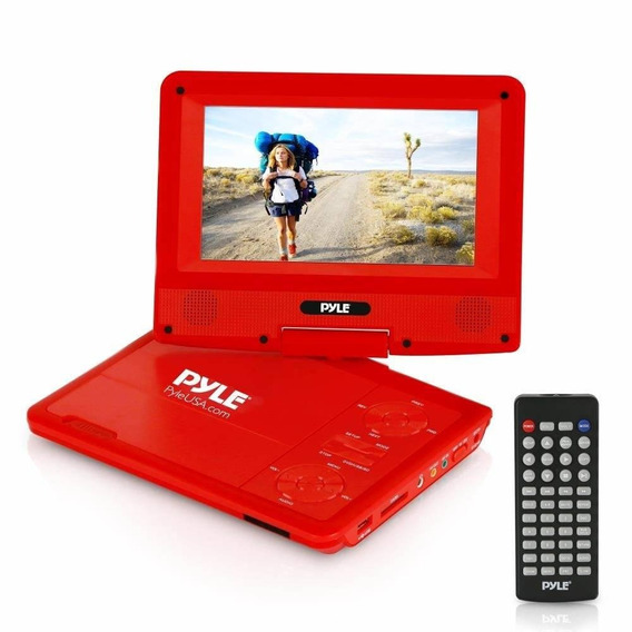 Upgraded Pyle 7 Portable Dvd Player, Travel, Built-in Recha
