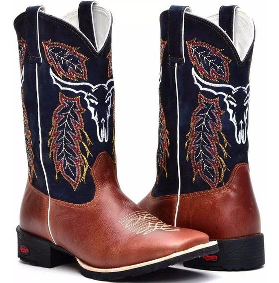 Bota Masculina Country Texana Rodeio Festa Peão Barretos