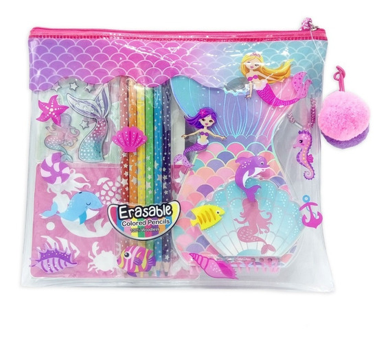Witty Girls Set Arte Sirenas Lapices Block Color Me 323