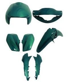 Kit Carenagens Biz 100 Verde Metálico Ano 2000