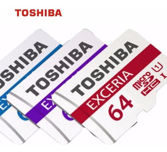 Micro Sd Toshiba 64gb Exceria Classe 10 48mb/s Original.