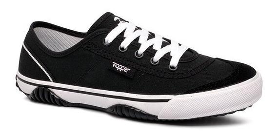 Tênis Topper New Casual Iii - Preto Ou Branco