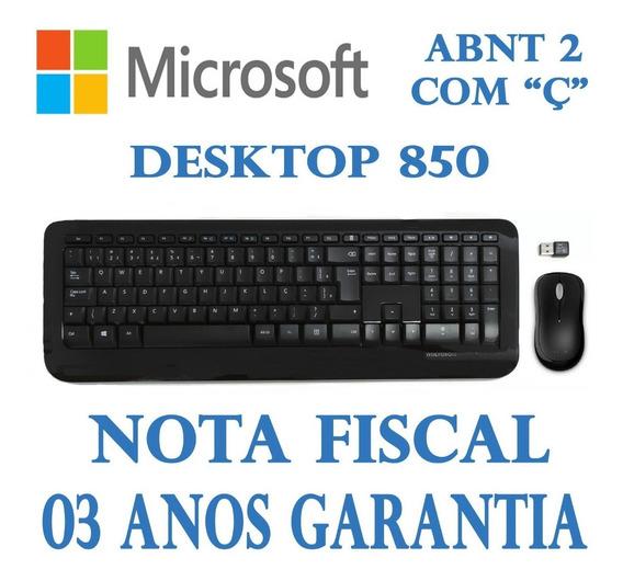Kit Teclado E Mouse Microsoft Wireless Desktop 800 Com Ç