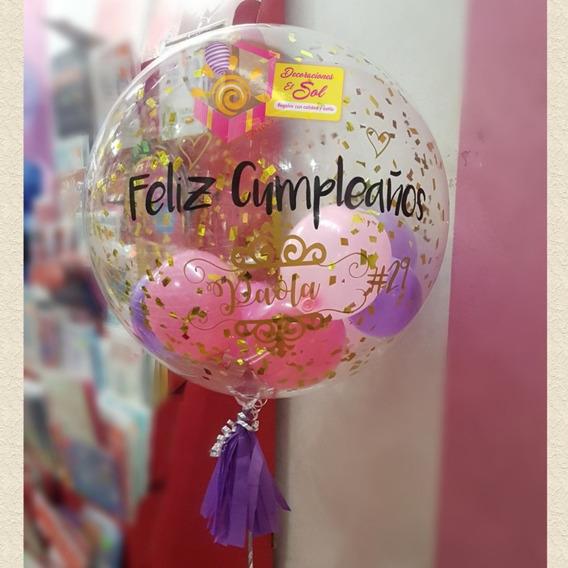 Globo Burbuja Helio Personalizado Guayaquil