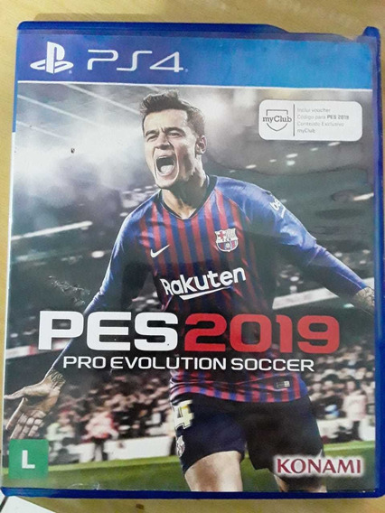 Pro Evolution Soccer 2019 Mídia Física Pes Ps4