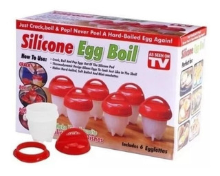 Hervidor De Huevos Silicone Egg Boil Molde Para Cocinar 6und