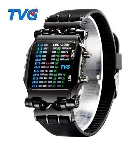Relógio Pulso Masculino Preto Esportivo Led Digital Tvg 2231