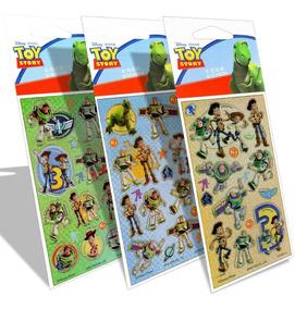 3 Cartelas De Adesivos Infantil Toy Story Disney