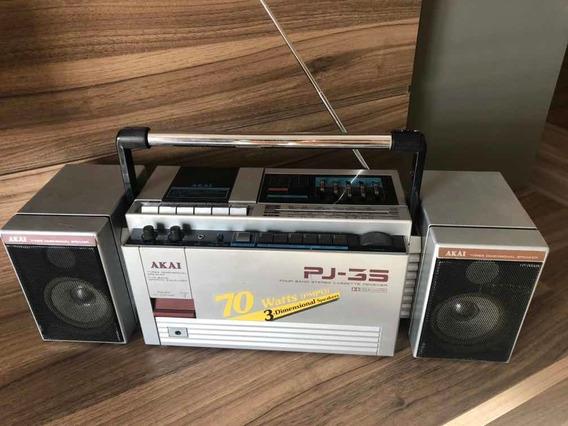 Micro System Akai Pj-35 Boombox Toca Fitas 80s
