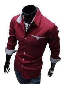 Camisa Social Masculina Slim Fit
