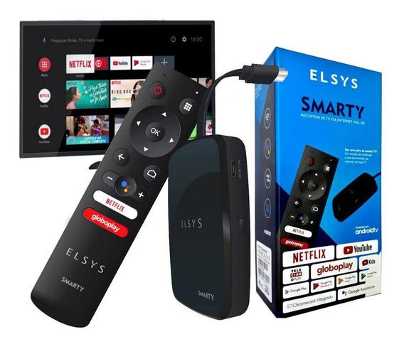 Smarty Receptor Smart Tv Android Full Hd Elsys Super Oferta