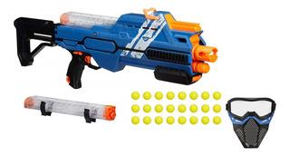 Nerf Rival Hypnos Xix-1200 Lanzador Azul 24 + Mascara Azul