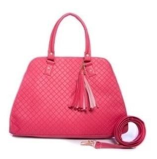 Bolso Karina Color Fiusha Grande Premium