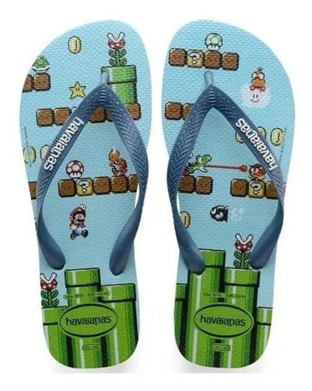 Sandália Havaianas Infantil Super Mario Bros Original