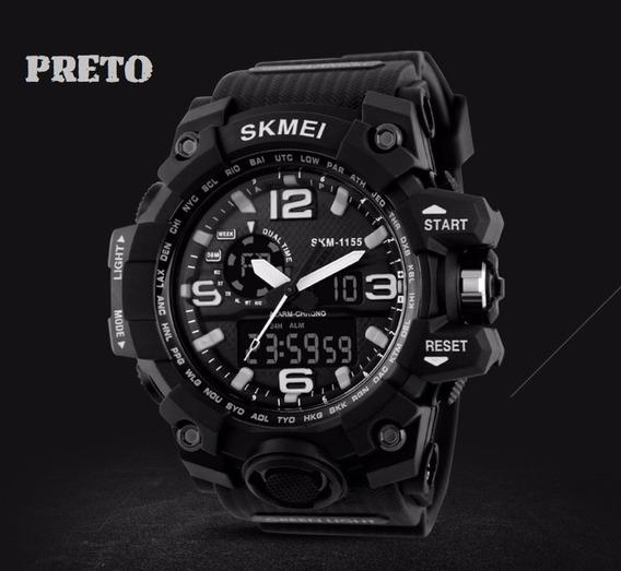 Relógio Masculino Esportivo Shock Exército À Prova Dágua Top