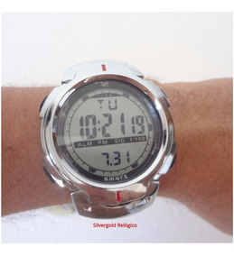 Relógio Masculino Digital Original Smart Pulseira Aço Inox