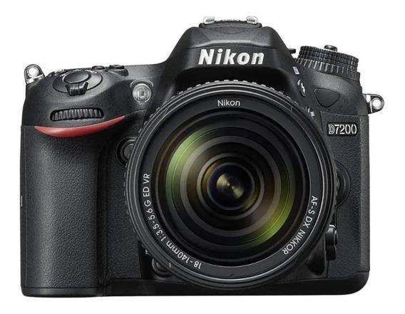 Câmera Dslr Nikon D7200 18-140mm Vr