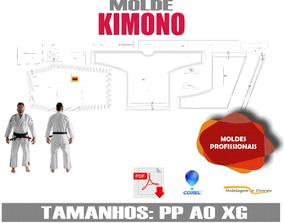 Molde De Kimono Em Corel P,m,g E Gg Ou Infantil Envio Email