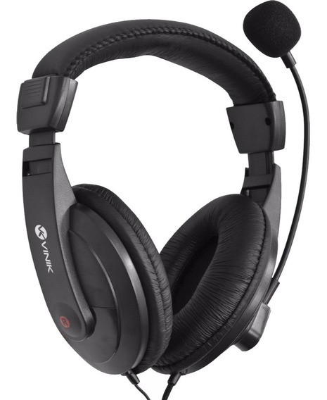 Fone Headset Go Play Preto Com Microfone Fm35 Vinik