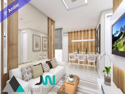 Condomínio Ecogarden Ponta Negra - Venda De Apartamento Com 2 Quartos, Pronto Para Morar E A 5 Minutos Da Praia - Ap00005 - 2521996