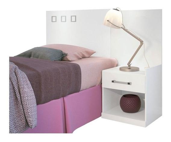 Cabeceira de cama box Santos Andirá Havana Plus Solteiro 148cm x 104.5cm branca