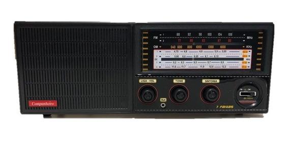 Rádio Cabeceira 7 Faixas Com Entrada iPod/mp3 Companheiro