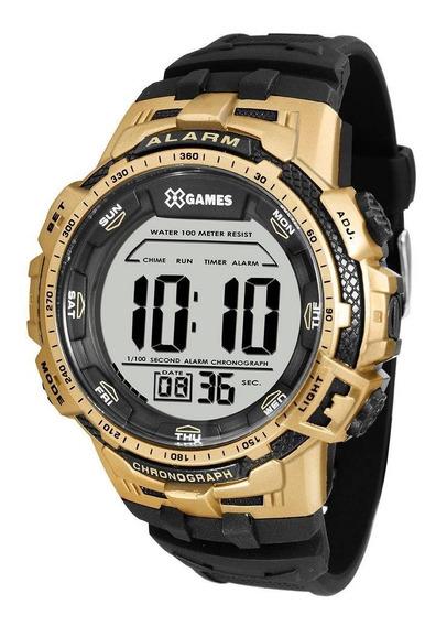 Relógio X-games Digital Masculino Xmppd429 Preto E Dourado