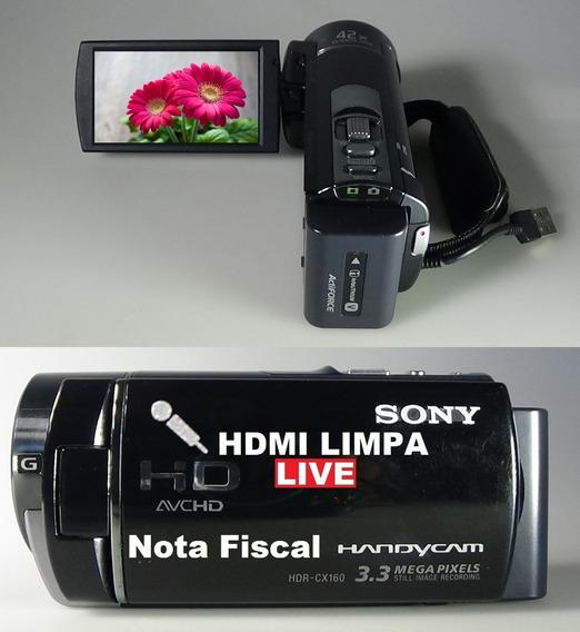 Filmadora Sony Hdr-cx160 Entrada De Microfone Hdmi Limpa