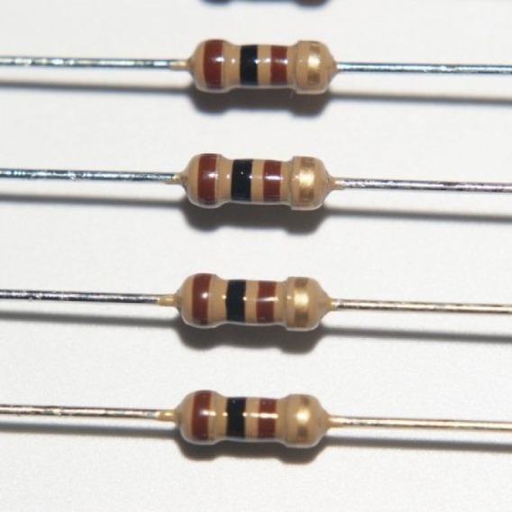 Resistor 100r 1/4w 5% - 100pçs