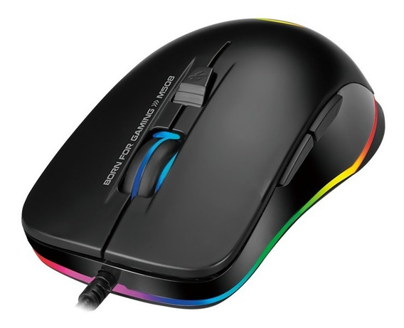 Mouse Gamer Marvo M508 Top 6 Botões Backlight Rainbown Led Sensor Óptico De Até 3200 Dpi + Brinde