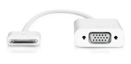Imagen 1 de 4 de Cable Adaptador Conversor Vga Para iPhone iPod iPad 30 Pines