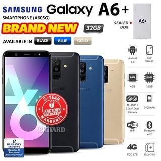 Nuevo Desbloqueado Samsung Galaxy A6 Plus + A605g Negro Oro