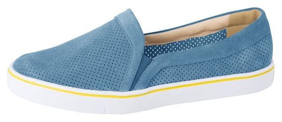 Tênis Feminino Lillys Closet Camurça Azul Original + Nf