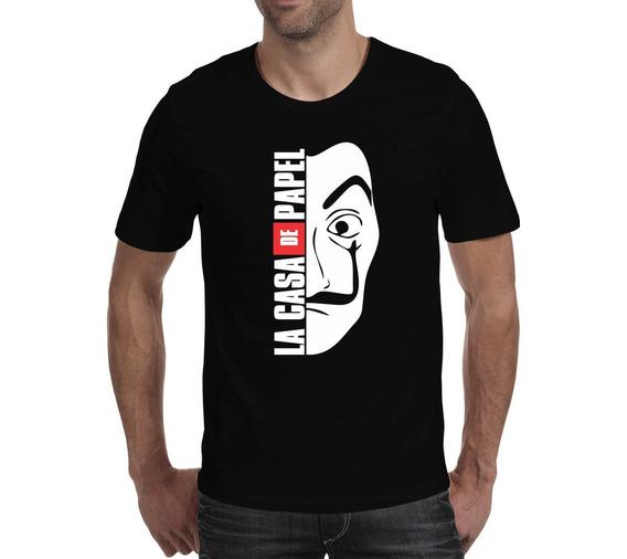 Camiseta La Casa De Papel - Preta