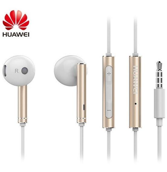 Fone De Ouvido Original Huawei Honor Am116 Cor Gold Earpods