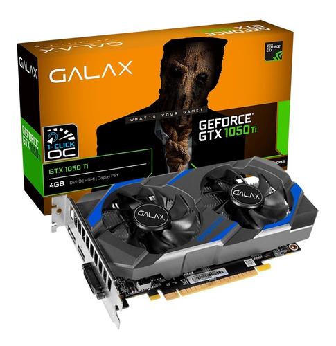 Imagem 1 de 8 de Placa De Vídeo Galax Gtx 1050ti 4gb 1-click Oc - Lacrada