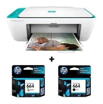 Multifuncional Hp Wireless 2676 Imp Cop Scan + Par Cartuchos