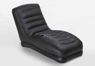 Sillón Inflable Puff Intex Mega Lounge Con Posa Vasos
